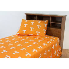 amazon com ncaa tennessee volunteers king bed set orange cotton