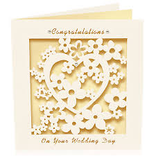 wedding day congratulations wedding card congratulations laser cut by pink pineapple home