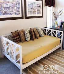 Diy Outdoor Daybed Style Winsome Daybed Ideas For Outside Solid Birch Loop Stacking