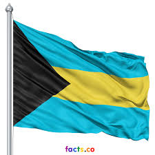 Blue Yellow And Black Flag The Bahamas Flags
