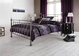 King Size Metal Bed Frames Serene Clara 5ft King Size Black Nickel Metal Bed Frame With