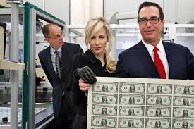 tone deaf mnuchins pose for money shot new york post