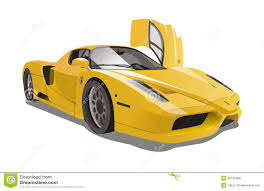 ferrari yellow car vector yellow ferrari enzo racing cars stock vector image 45132485