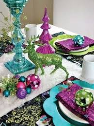 Christmas Decoration Table Settings by Blue Table Setting For Christmas Decorations