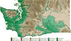 us relief map washington physical map and washington topographic map