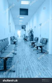 Hospital Armchairs Chairs Interior Modern Hospital Shades Blue Stock Photo 82055113