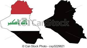 iraq map vector vector map and flag of iraq with white background vector clip