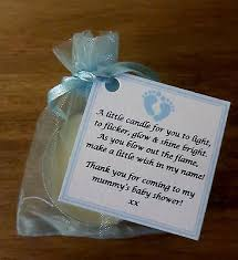 candle baby shower favors new baby shower favours vanilla candle can be personalised