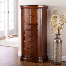 Kirklands Jewelry Armoire Bedroom Wonderful Dark Brown Wood Jewelry Armoire Box With 2