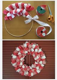 wreaths made from ribbons and bows do it