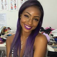 ombre hair color fro african american women top 13 cute purple hairstyles for black girls this season for