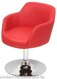 new red funky swivel lounge dining bucket chair modern red swivel