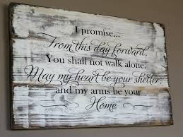 wedding gift signs rustic wedding vow wood sign from this day forward carved wood