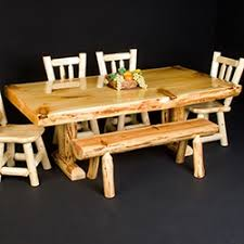 Pine Kitchen Tables And Chairs by Barnwood U0026 Log Dining Table Styles