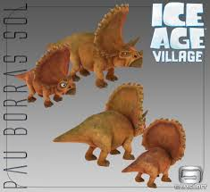 image 3d models triceratops ice age village jpeg ice