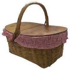 vintage picnic basket basket picnic vintage collectibles ruby