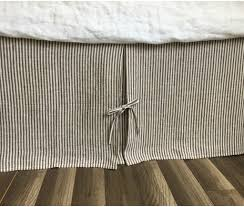 tailored pleated linen bed skirt with ties multiple colors to