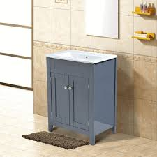 bathroom under sink storage stone tiled wall small painting with