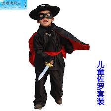 Dress Zorro Costume Halloween Cosplay Guides China Children Halloween China Children Halloween Shopping Guide