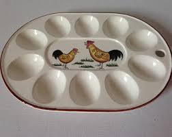 ceramic egg tray 12 deviled egg plate etsy