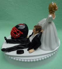 hockey cake toppers new jersey devils nj hockey themed wedding cake topper garter