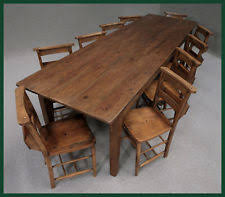 Antique Pine Dining Table EBay - Old pine kitchen table