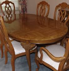 unique furniture makers pecan dining room table and chairs ebth