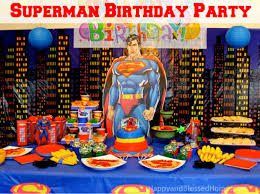 superman birthday happy and blessed home