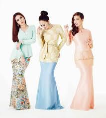 baju kurung modern untuk remaja model baju kurung terbaru batik melayu kombinasi bordir polos modern