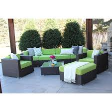 Rattan Patio Furniture Sets Furniture Hiawatha 8pc Modern Outdoor Rattan Patio Furniture