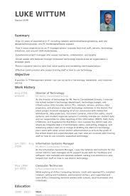 Director Of It Resume Director Of Technology Resume Samples Visualcv Resume Samples
