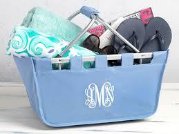 monogrammed baskets custom monogrammed baskets boston bags tags