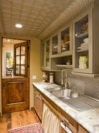 Tin Ceiling Tiles Backsplash Houzz - Tin ceiling backsplash