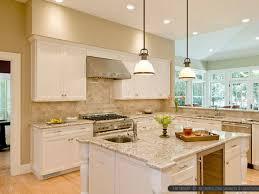 copper kitchen appliances glass tile backsplash travertine tile