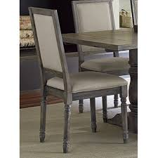 furniture traditional grey wood parsons dining chairs