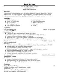 impactful professional law enforcement u0026 security resume examples