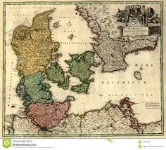 old map of denmark royalty free stock image image 10213076