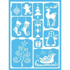 holiday stencils craft u0026 art supplies the home depot