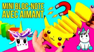 mini carnet de note bricolage mini bloc note avec aimant carnets unicorn u0026 pikachu