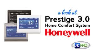 Prestige Iaq 2 0 Comfort System Ac Pro Product Spotlight Prestige 3 0 Thermostat By Honeywell