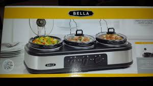 find more price reduced bella triple slow cooker buffet u0026 server