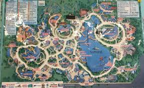Blossom Music Center Map Vintage Seaworld Orlando Map Vintage Seaworld Pinterest