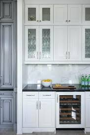 Glass Door Kitchen Wall Cabinets White Cabinet Glass Door Chic Kitchen Bar Boasts White Cabinets