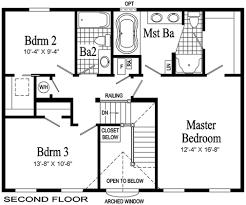 second floor plans providence two story modular home pennwest homes model hs101