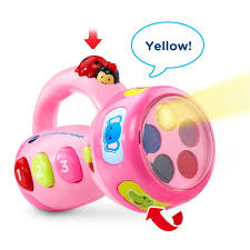 amazon com vtech spin and learn color flashlight pink online
