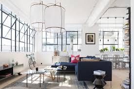 Scandinavian Area Rugs by Warm Industrial Living Room Scandinavian With House Plants
