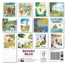 rupert bear mini wall calendar 2017 art calendar amazon