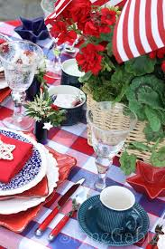 Fourth Of July Tablecloths by Memorial Day Table Stonegable
