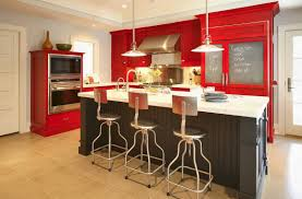 home design astonishing red painted kitchen cabinets and kitchen