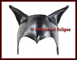 catwoman leather headpiece mask batgirl superhero batman